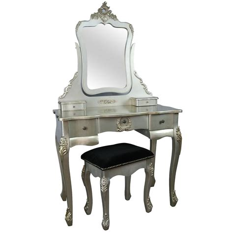 Silver Dressing Table Stool by Style Antique Silver Dressing Table And Stool