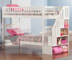 cheap bunk beds for girls with white wooden beds frame