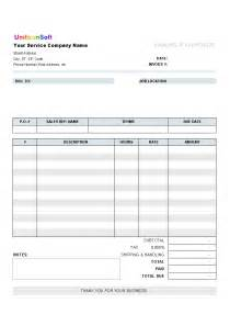 blank sales invoice template