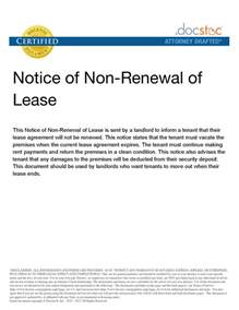 letter of not renewing lease free printable documents