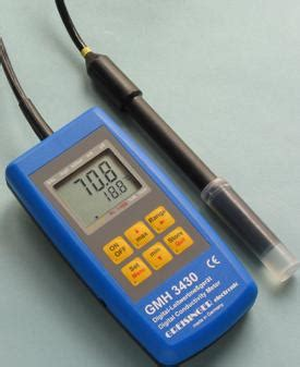 electrical resistance meter electrical conductivity and water purity stem soup