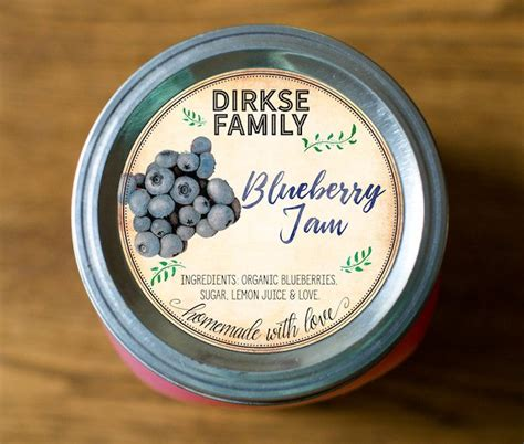 Jam Jam Dinding Gantungan Vintage Style A custom blueberry jam jelly labels vintage style authentic heirlooms