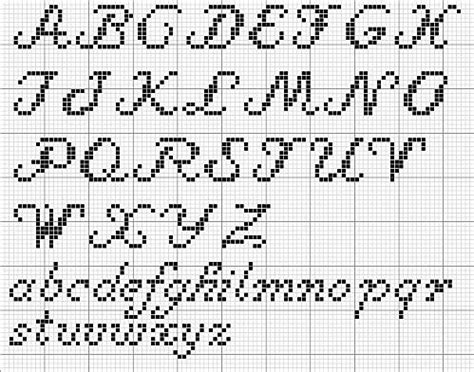 pattern finder letters cross stitch letter pattern cursive google search