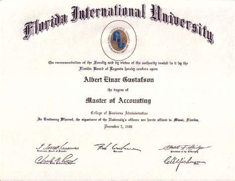 Uf Accounting Mba Program by International Business Of Florida