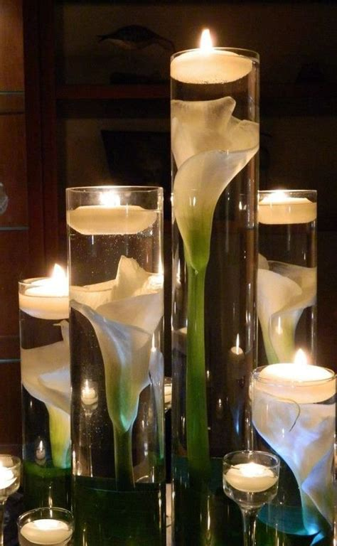 Lighted Centerpieces by Candle Lighted Centerpieces For Wedding Receptions 24 Ideas