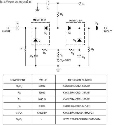 diode attenuator schematic merakit dot rf switch attenuator