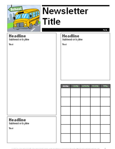 parent newsletter templates education world august september parent newsletter template