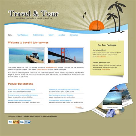 Template 106 Travel Travel Template