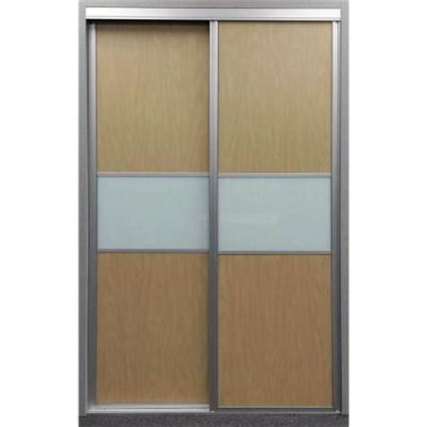 contractors wardrobe 60 in x 81 in trinity maple and white painted glass aluminum interior