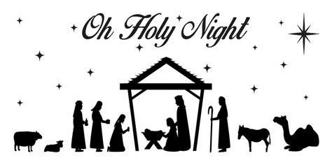 christmas holiday stencilnativity  holy night  primitive sign craft  ebay