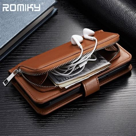 romiky pu leather card slot holster  iphone        p p wallet case flip cover