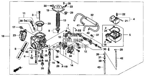 honda foreman carburetor diagram new genuine honda oem trx 500 foremam rubicon carburetor