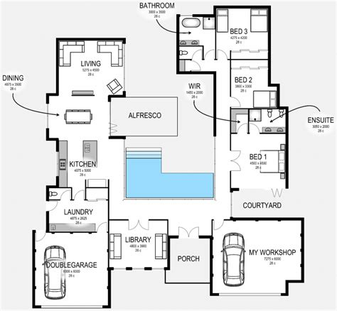workshop floor plan floor plan friday entertainer with additional workshop garage