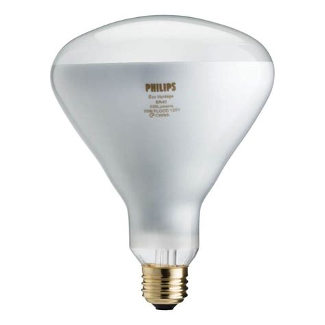 Lu Philips Halogen 1000 Watt philips 65 watt equivalent br40 halogen flood light bulb