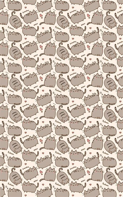 cute pattern cats pusheen the cat wallpaper iphone wallpapers pinterest