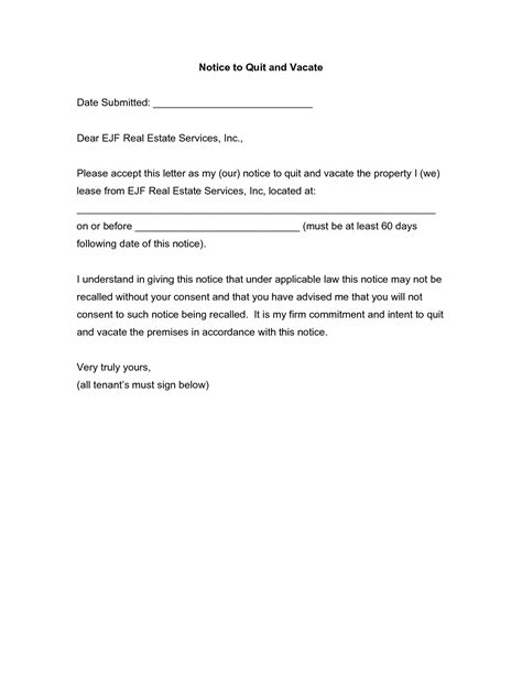 60 day notice letter to landlord template best photos of 60 day rent increase notice 60 day notice