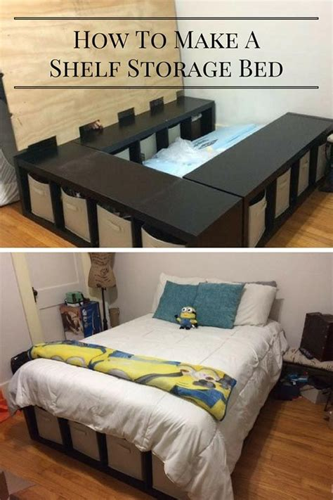 creative  bed storage idea diy shelf bed storage