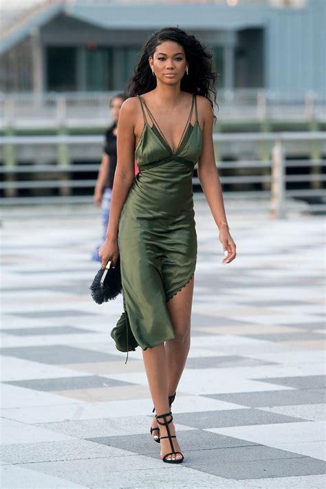 Channel Dress 2 chanel iman in an olive green silk slip fabulous i want now silk slip