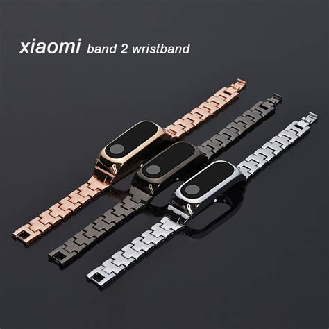 Smartband Y2 Leather Colourful Display new metal replacement wrist for xiaomi mi band 2 miband 2 wristbands for mi band 2