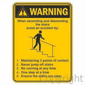 Stairs Safety by Pics Photos Caution Stairs Sign