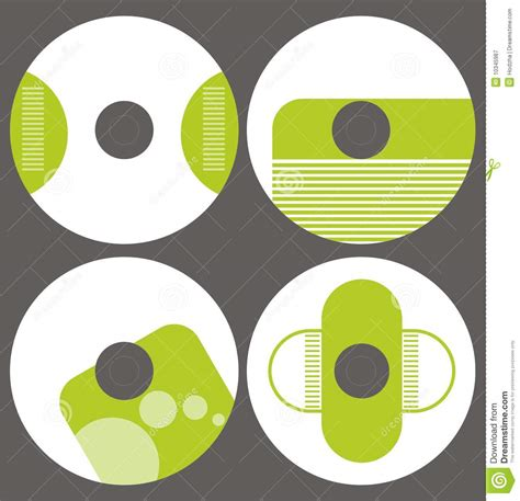 design label cd vector design template set cd on vector stock vector image