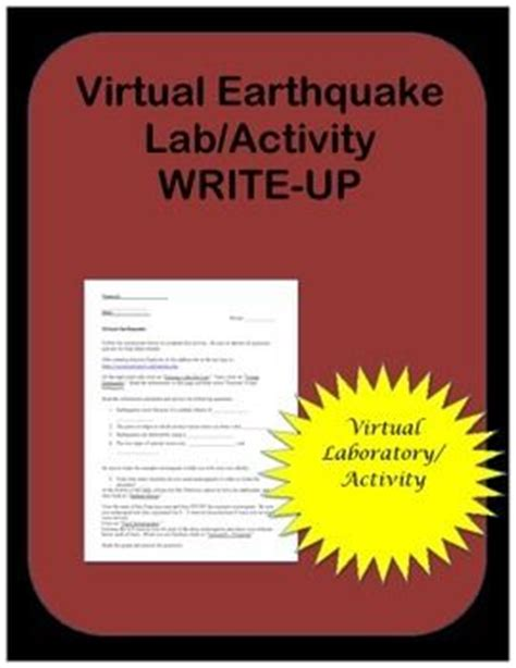 earthquake virtual lab 17 best images about week 3 and 4 science on pinterest