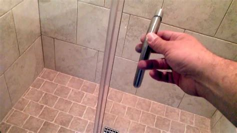 swinging shower door seal install framless shower doors that swing in and out youtube