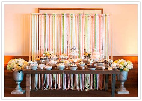 ribbon streamer dessert table backdrop make it peacock