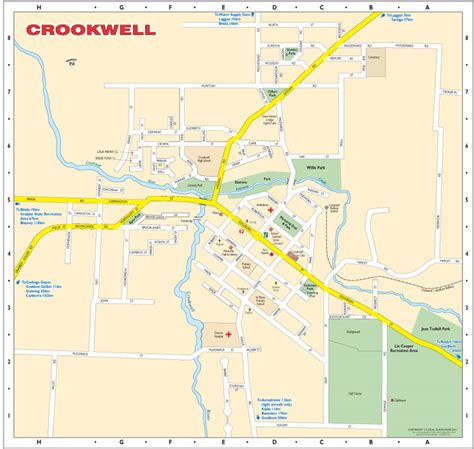 local map crookwell southern highlands maps directories