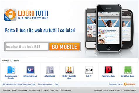 mobile libero it libero tutti il web diventa mobile per tutti