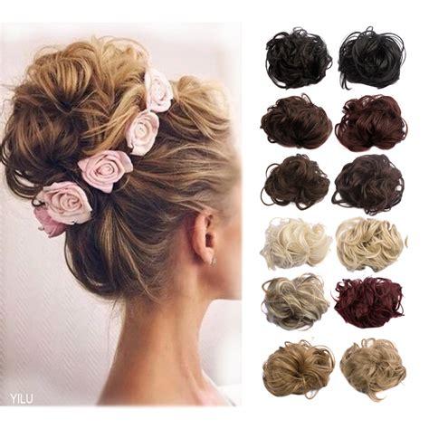 allie express hair buns 1pc 35g curl synthetic hair bun plaited wrap elastic hair