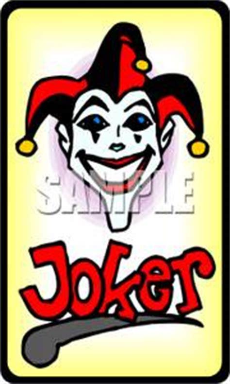 A Joker Playing Card   Clipart