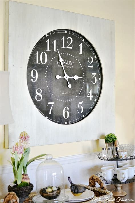 dining room wall clocks oversized wall clock in the dining room at the picket fence
