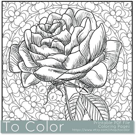 coloring pages for adults pdf items similar to printable coloring page for adults