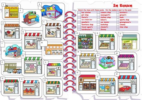 shops in my town worksheet free esl printable worksheets shops worksheet free esl printable worksheets made by