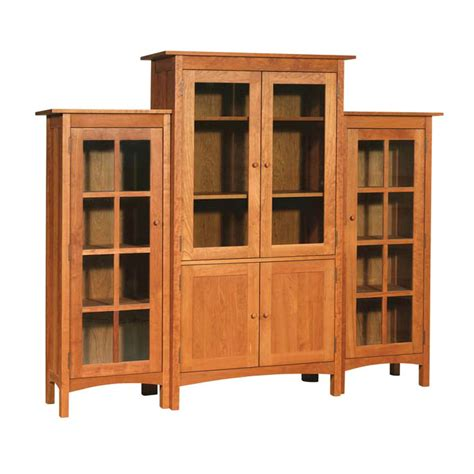 modern bookcase with doors three piece wall unit solid wood bookcases 6 large glass