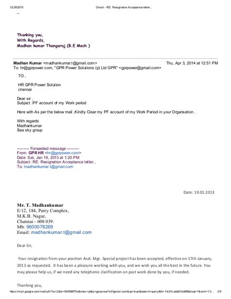 accept resignation letter gmail re resignation acceptance letter
