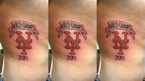 ny mets tattoo dude s new york mets world chs 2015 was