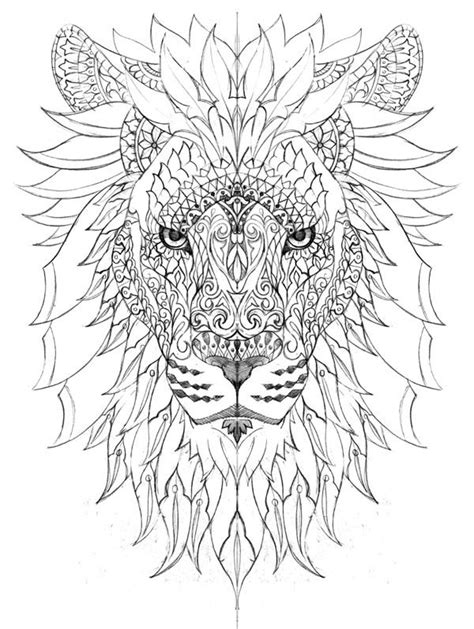 lion coloring page for adults coloring for adults kleuren voor volwassenen cam 233 o