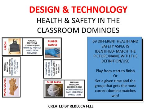 classroom layout health and safety health and safety in the technology classroom dominoes by