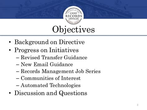 Federal Records Transforming Federal Records Management Aiim 2014 Conference Session