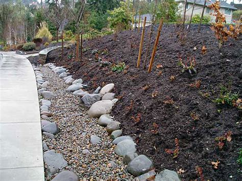 dry creek bed for drainage drainage and creek bed installation