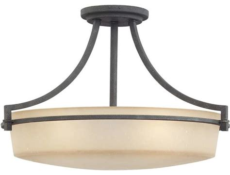 Ceiling Mount Bathroom Vanity Light Quoizel Lighting Ctl1722gk Caitlyn Semi Flush Mount Ceiling Light In Grey Ash Transitional