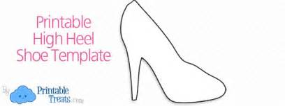 high heel template printable shoe prints