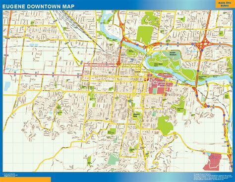 downtown map world wall maps store eugene downtown map more than 10