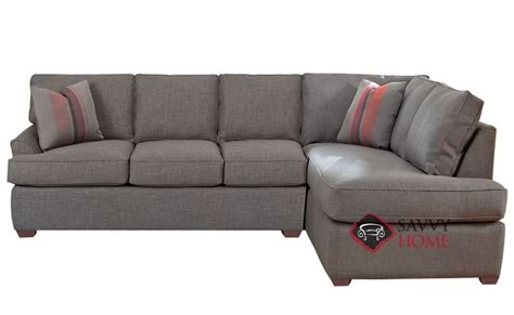 gold coast fabric chaise sectional by savvy is fully