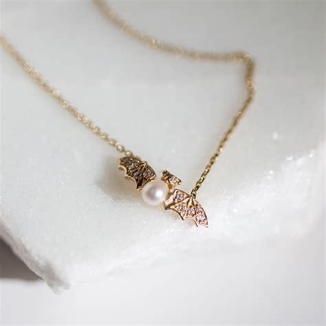 Jeweled Pendant jeweled bat necklace catbird