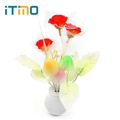 Lilac Light Sensor Home Bedroom Decoration Mushroom Flower Lilac Lights