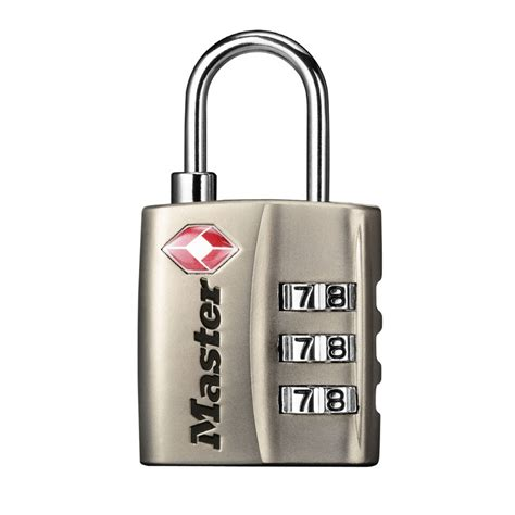 Types Of Combination Locks - shop master lock 1 13 in wide tsa accepted luggage padlock