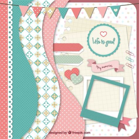 scrapbook layout software free collection of scrapbook supply vector premium download
